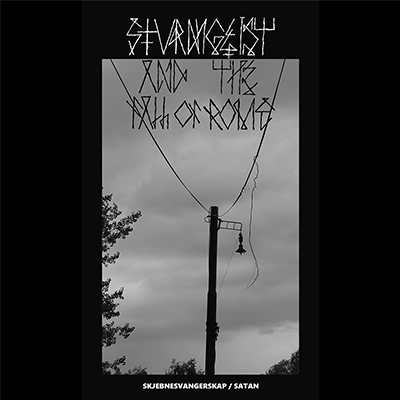 The album-cover to Sturmgeist & the fall of rome - Skjebnesvangerskap / Satan